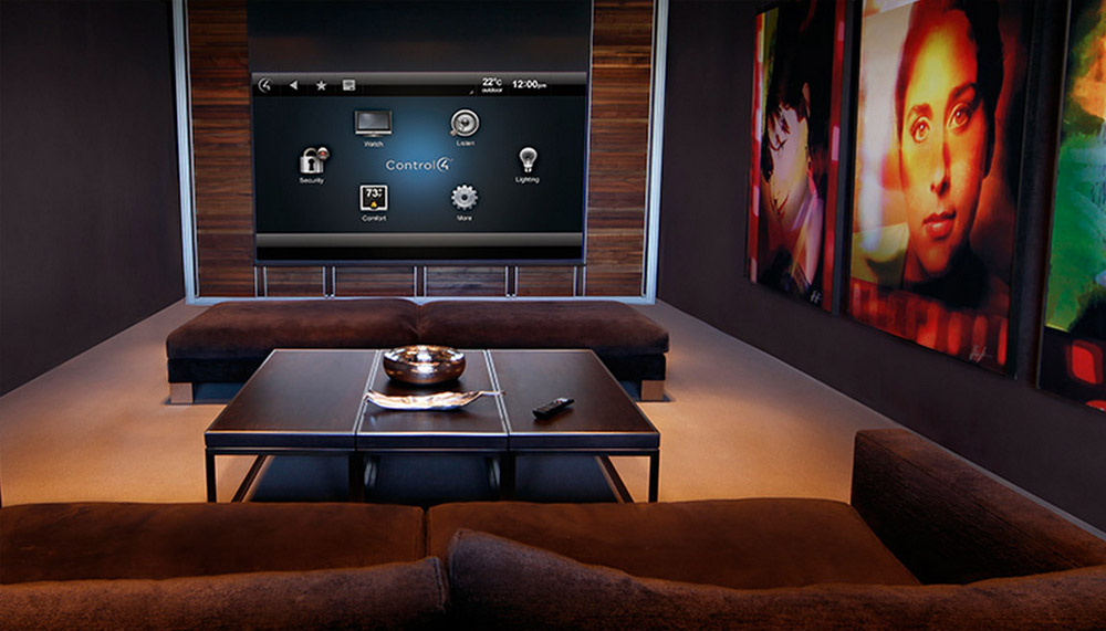 Control4 Automated living rooom