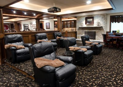 St. Charles Home Custom Home Theater