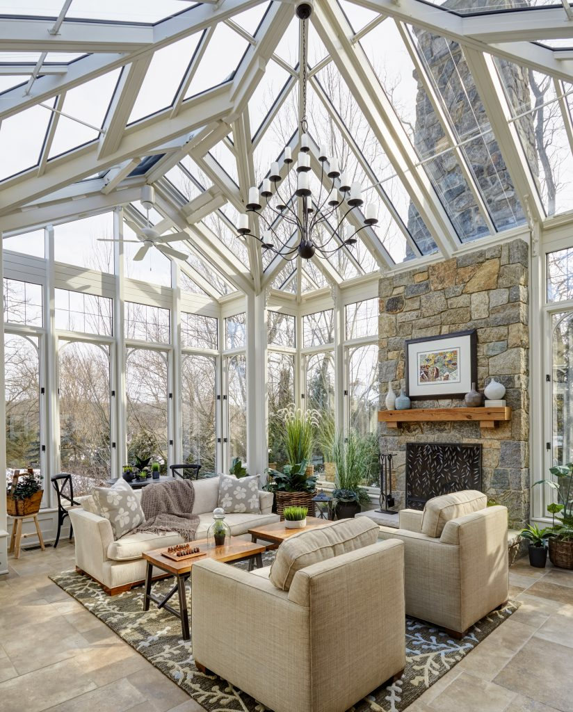 sunroom featuring automated climate control to lower your home energy costs