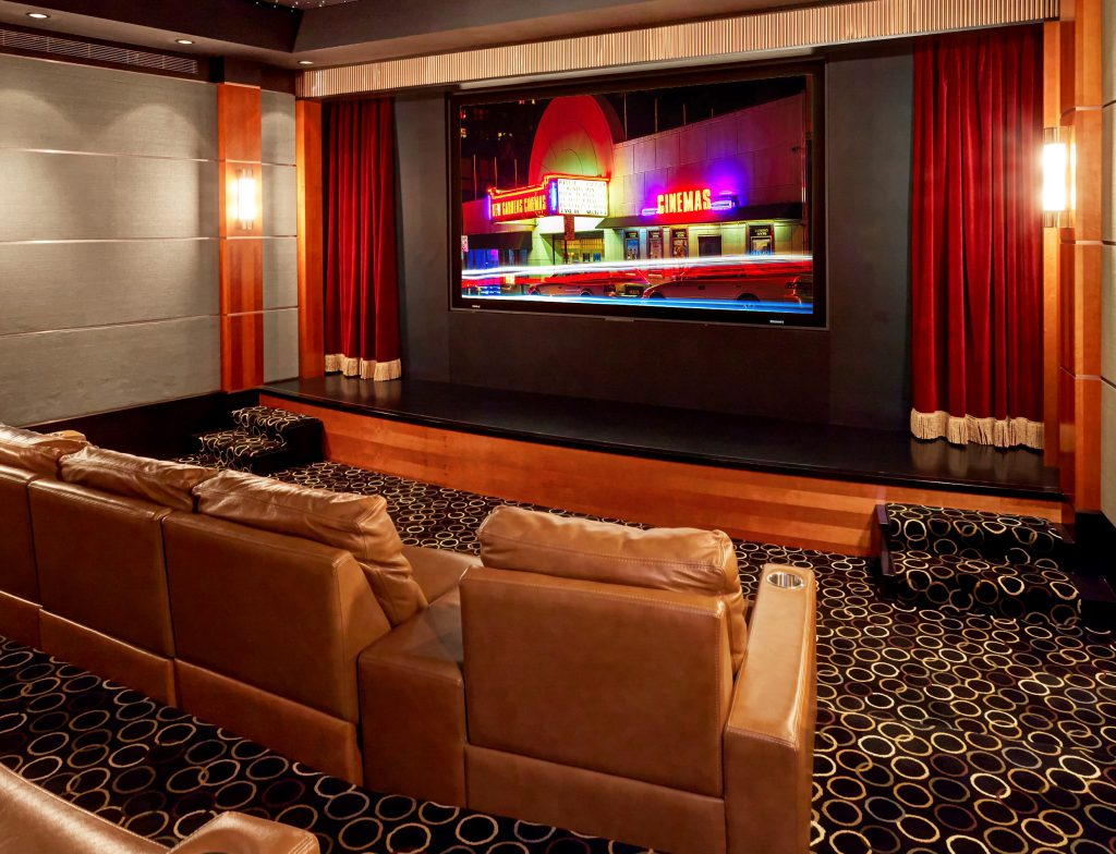 media room home theater designed by MediaTech